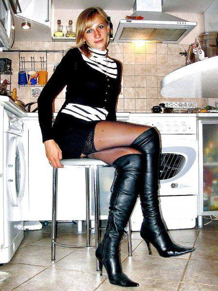 Frau in Stiefeln
