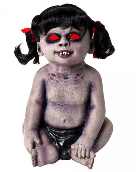 Zombie Puppe mit roten Augen