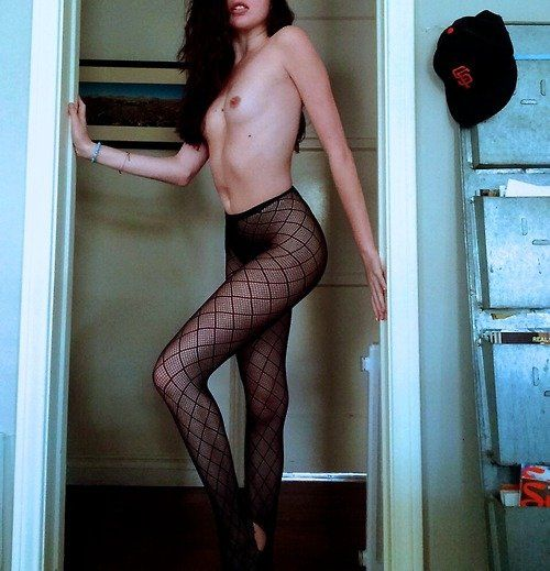 Girl in geiler Strumpfhose