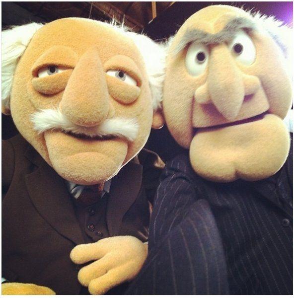 Die beiden Opas aus der Muppets Show machen Selfie