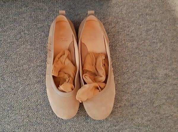 Schuhe mit Nylons